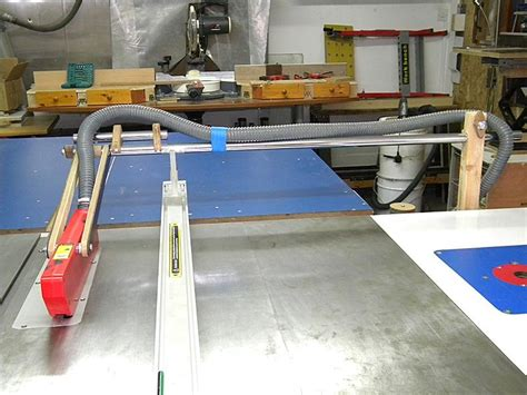table saw dust collection table saw suva guard system with dust collection by