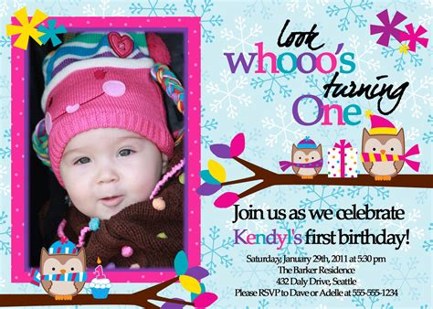 1st year birthday invitation wordings india owl 1st birthday invitations ideas bagvania free