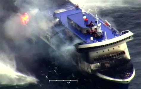 britney from thicker than water hai line evacuation of burning greek ferry complete 5 dead