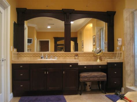 Framed Mirrors For Bathrooms Vanity Refinishing New Framed Mirrors And Doors Traditional Bathroom Orange County By