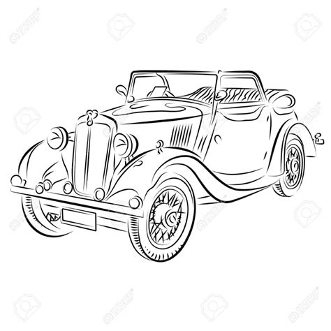 vintage cars drawings vintage car drawing classical car images stock pictures