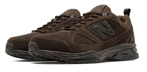 New Balance Silver Brown lyst new balance 623v3 suede trainer in brown for