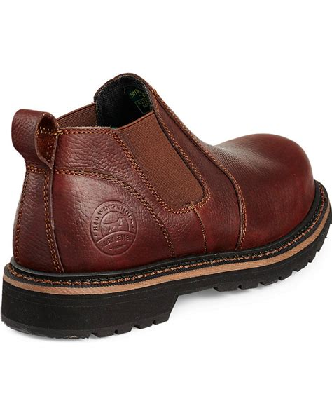 steel toe slip on work boots wing cass slip on work boots steel toe boot barn