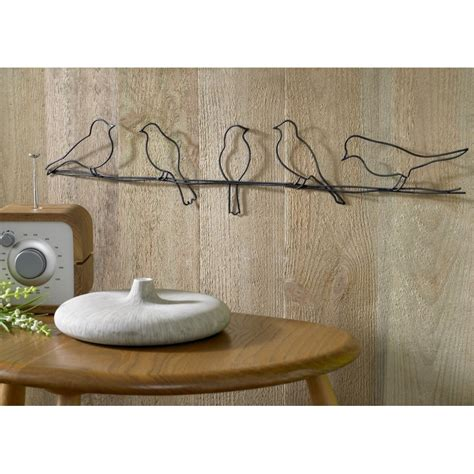 wire wall art home decor birds on a wire 41 221 metal wall art