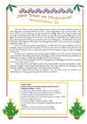 new year traditions worksheet worksheet new year 180 s or hogmanay