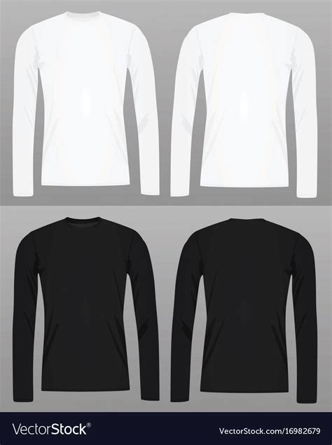 Long Sleeve T Shirt Template Royalty Free Vector Image Sleeve T Shirt Template