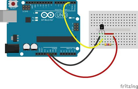 JavaScript Robotics: Thermometer   DS18B20 with Johnny Five