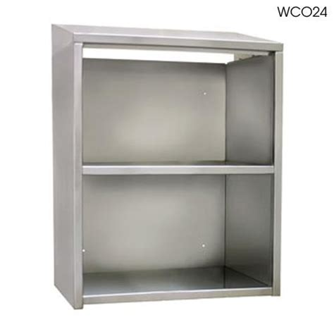 open front storage cabinets glastender wco48 48 quot open front wall cabinet etundra