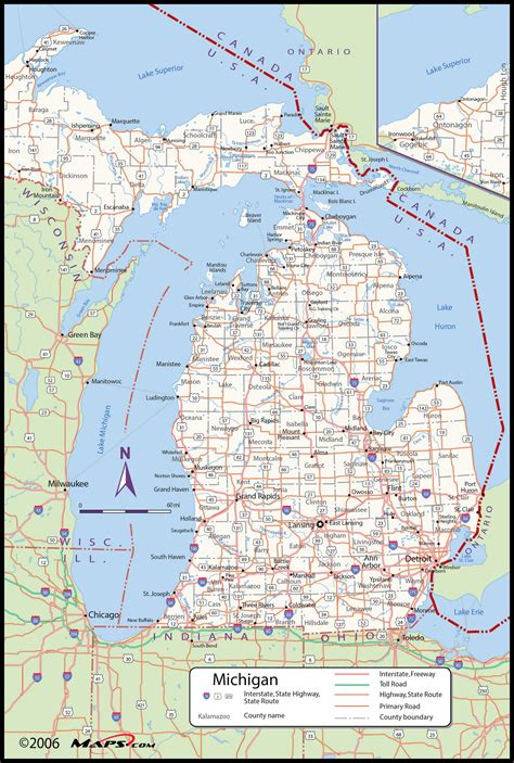 mi county map michigan county wall map maps