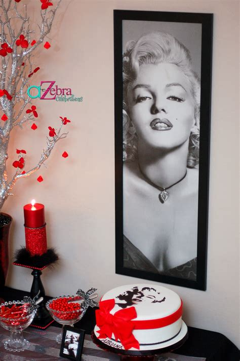 Marilyn Monroe Th  Ee  Birthday Ee   Party A To Zebra Celeb Ions