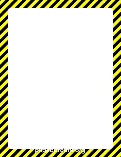 26 images of safety border template infovia net