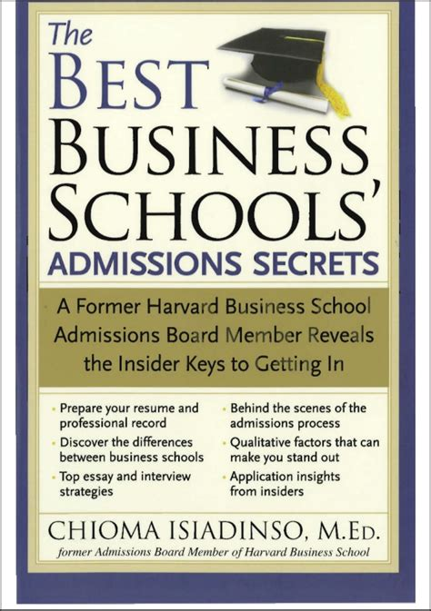 Top Mba Programs In Illinois by The Best Business Schools Admissions Secrets