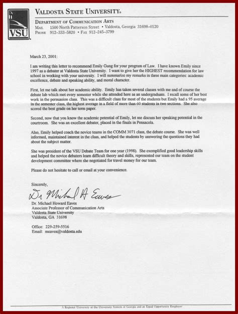 Work Reference Letter For College Write Nursing Home Work