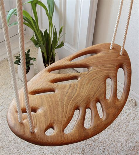 the leaf swing solid wood swing by veronica martinez leaf