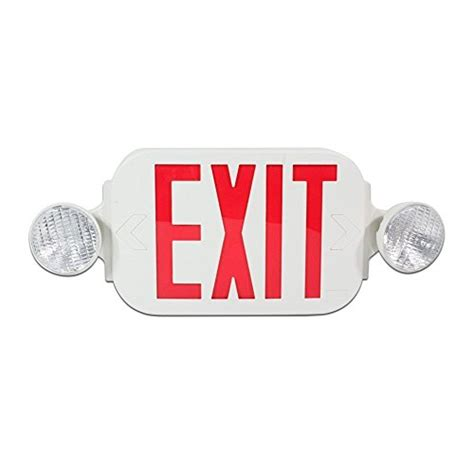 bug eye exit lights etoplighting led red exit sign emergency light combo with