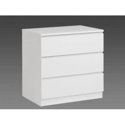 commode 3 tiroir lite commode 3 tiroirs l76 cm blanc achat vente