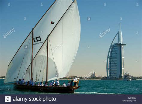 sailing boat uae city of dubai with typical dhow sailing boat united arab