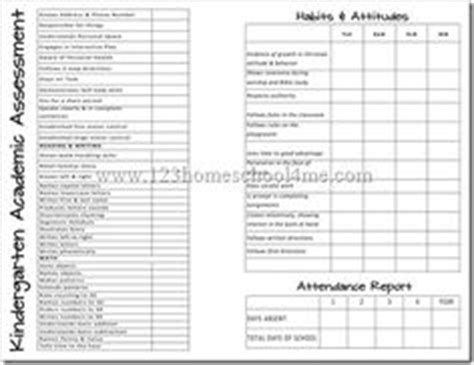 homeschool kindergarten report card template 1000 images about assessments on report cards