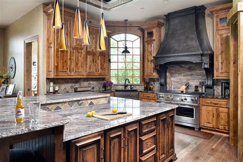 Custom Cabinets Kitchen by Rustic Home Front Exterior