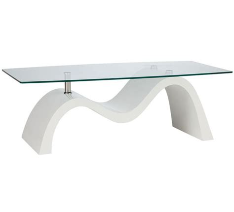 white and glass coffee table 179 fantastic furniture wave