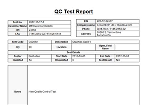 qc template qc tracking software quality tracking software