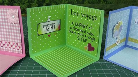 corner pop up card templates scan n cut tutorial corner pop up card using