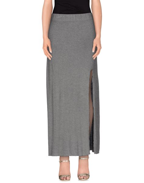 only skirt in gray lyst