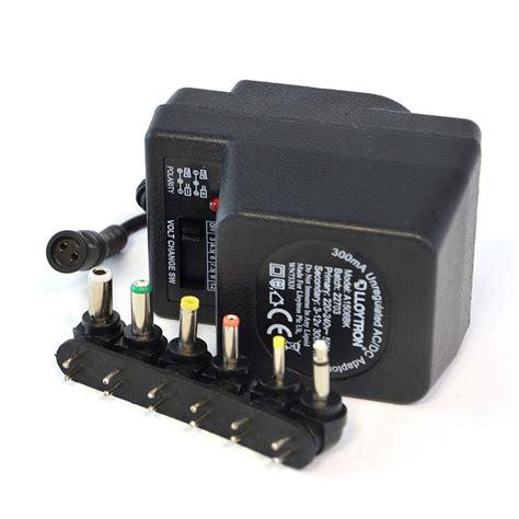 Adaptor Multi Volt lloytron a1506 300ma unregulated ac dc multi voltage