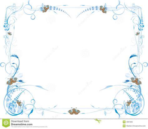 flores azules claras mariposa imagenes de archivo imagen 2050474 flores y marco azules de la mariposa foto de archivo libre