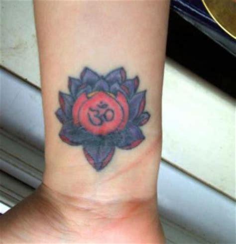 om symbol tattoo wrist lotus images designs