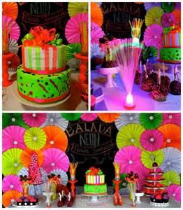Kara s party ideas neon themed birthday party via kara s party ideas