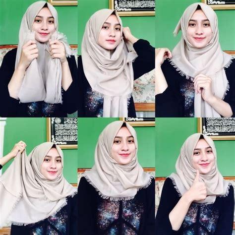 tutorial hijab segi empat simple tapi menarik tutorial hijab katun rawis segi empat kumpulan contoh