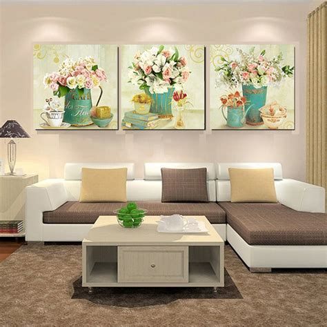 room canvas home decor canvas prints vintage flower wall canvas painting wall pictures for living room