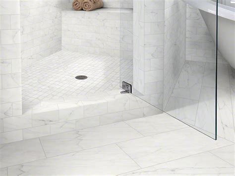 Mirror Tile Backsplash Kitchen by Beautiful Calacatta Tile In Bathroom Contemporary With