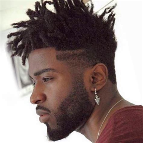 mens afro faded sides long on top hairstyles undercut hairstyle for men