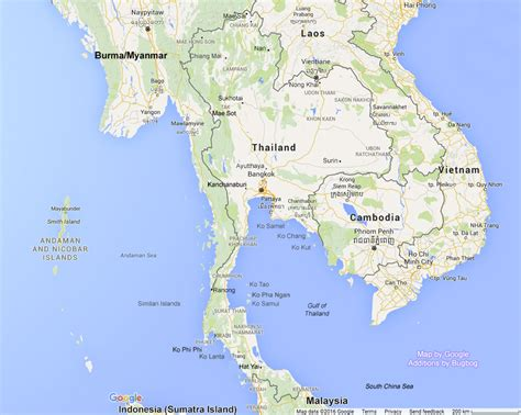 map of thailand thailand map with tourist destinations and links to