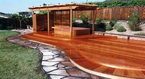 redwood deck gallery page 2 sierra fence