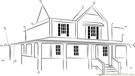 printable dot to dot house house revised dot to dot printable worksheet connect the