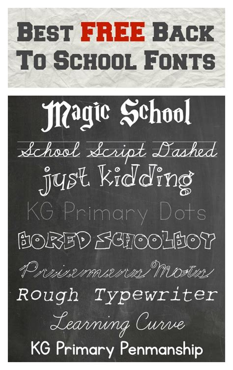 back to school lettering or best free back to school fonts pinlavie com