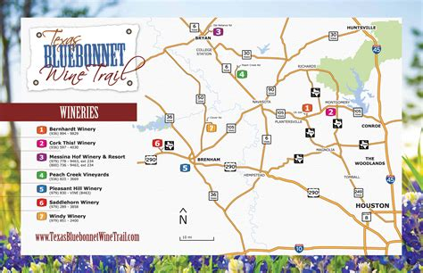 texas winery map saddlehorn winery wine trails