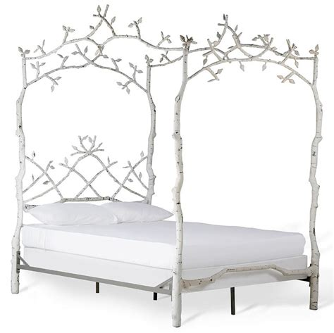 Forest Canopy Bed Frame Farmhouse Forest Dreams Canopy Bed Cor43630 8 750 00 The Painted Cottage Vintage Painted