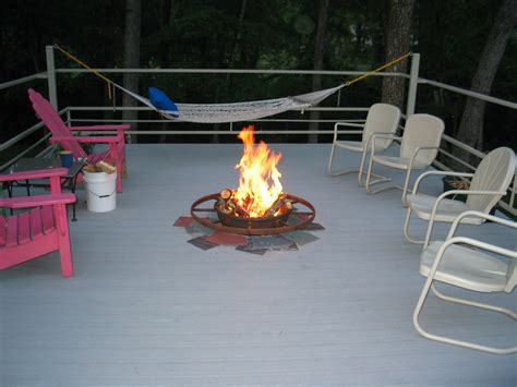 deck pit mat fireplace design ideas