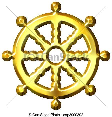 imagenes y simbolos del budismo clip arte de 3d dourado budismo s 237 mbolo roda dharma