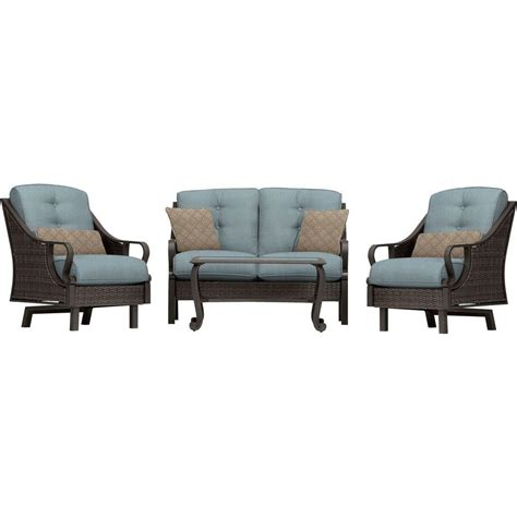 hanover ventura  piece  weather wicker patio seating