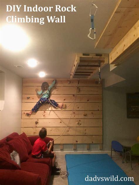 diy basement rock climbing wall on belay dad vs wild