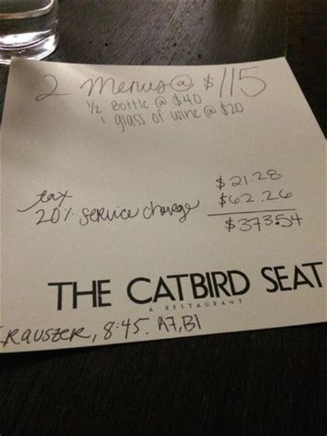 what is the catbird seat the catbird seat nashville haynes area restaurant