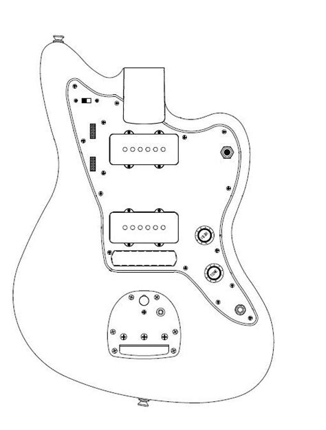 fender jazzmaster template 24192 developing jazzmaster blueprint jazz image jpg