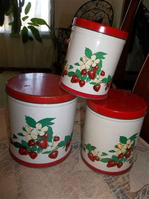 vintage metal kitchen canister set canisters pinterest