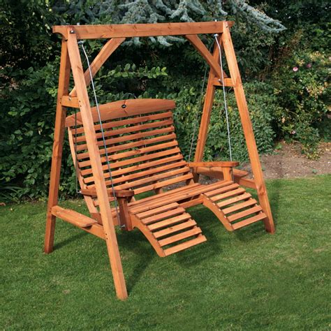 swing chair garden furniture garden swing seats afk marketing ltd wooden garden furniture