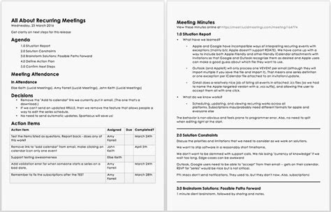 The Anatomy Of Meeting Notes That People Will Use Professional Meeting Minutes Template